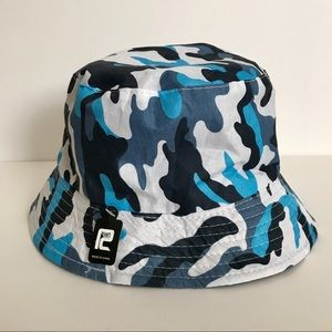 Blue Camo Bucket Hat